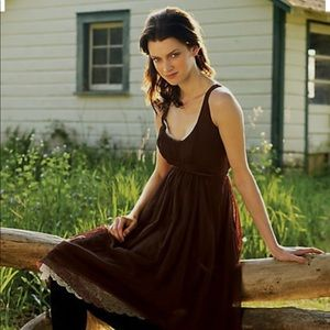 Moulinette Soeurs Anthropologie Meadow-Brown Dress